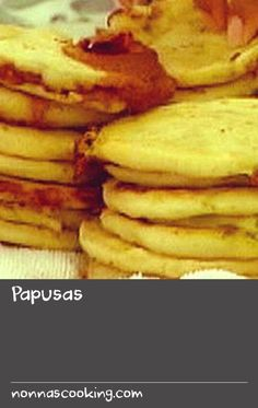 Papusas | This is El Salvador's most cherished food, and the simplicity of the recipe belies the delicious result. Eaten straight from the skillet and accompanied by thick tomato salsa and salads, they are a delectable snack or serious food, depending on when you stop eating. The roasted corn aroma which wafts through the kitchen is the signal of what is to come, and whets the appetite no matter what the time of day. The filling can vary according to taste. Cheese combines well with… Roma Tomato Recipes, Tomato Salad Recipes, Garlic Recipes, Coke Recipes, Bean Recipes, Vegetarian Recipes, Snack Recipes, Ham Recipe With Coke, Yummy Appetizers