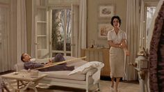 I couldn't stop looking at the curtains on the french doors in the background... Cat on a hot tin roof
