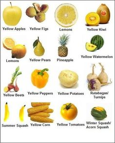 Yellow Fruits and Vegetables. Yellow foods are high in antioxidants like vitamin… - Health