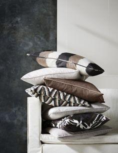 — The Decorista Diy Pillows, Decorative Pillows, Throw Pillows, Accent Pillows, Decorative Items, Textiles, Casamance, Modern Rustic Decor, Home Interior