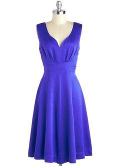 Cobalt blue dress perfect for a wedding guest