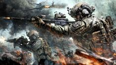 All artworks here are for sale! Please contact me. Anime Military, Military Men, Guerra Anime, Special Forces Gear, Military Motivation, Military Drawings, Apocalypse Art, Zombie Art, Pokemon