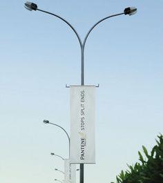 The Coolest Street Pole Ads #1Pantene. Via Lebanon. Brilliant.