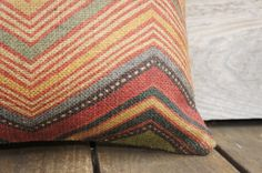 Chevron Decorative Throw Pillow Cover Burlap by TheWatsonShop, $46.00