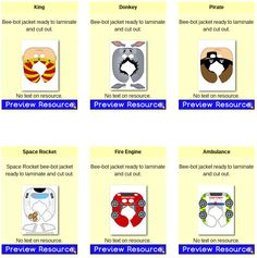 Bee-Bots Resources for the classroom - ICT resources - Bee Bot jackets, mats and markers Maker Space, Treasure Chest, Ambulance, Preschool, Bee, Coding, Police Cars, Race Cars, Printables