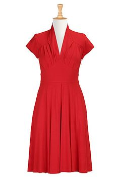 Need this dress - eShakti Feminine pleated knit dress