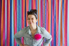 Photo Booth Backdrop: Layer colored crepe paper to create a fabulous striped photo booth backdrop. Because every good party needs a rockin' photo booth (or two)? (via Lovely Indeed)