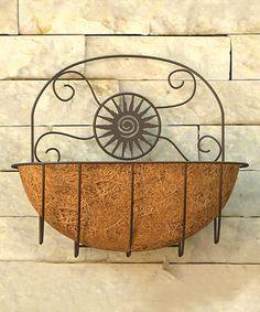 Another great find on #zulily! Rust Sun Wall Planter #zulilyfinds
