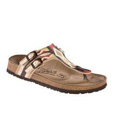 Take a look at this Beige Aztec Thong Sandal - Women by Birkis on #zulily today!