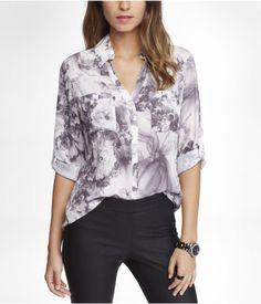 Convertible collar blouse