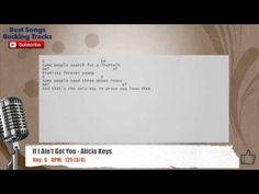 If I Ain't Got You - Alicia Keys Vocal Backing Track with chords and lyrics
