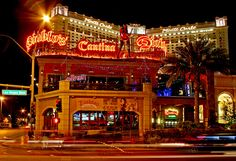 Diablos Cantina @ Monte Carlo..  Great restaurant on bottom & bar/Dance Floor Uptop..and free!  Tons of Fun!
