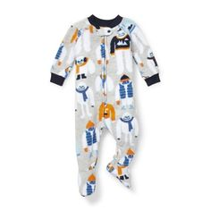 32a47d9602 Long Sleeve Yeti Print Footed Blanket Sleeper (Baby Boys   Toddler Boys)