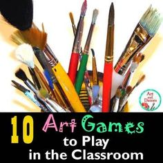 Having a variety of art games at your fingertips is almost mandatory for any art teacher. Yes - of course - games can be used as class ...