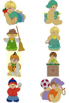 """Bunnycup Embroidery has posted this free embroidery design collection called """"Lil Dumpling Boys""""."""