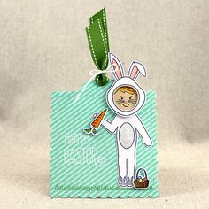 Bunny Boy Tag by Lizzie Jones for Papertrey Ink (February 2016)