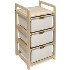 Three Drawer Hamper and Storage Unit | Overstock.com Shopping - The Best Deals on Hampers