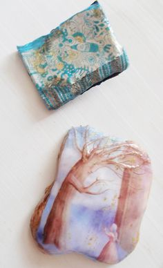 handmade brooches, paperclay, liquid glass.  find more on www.etsy.com/shop/mademeathens $25