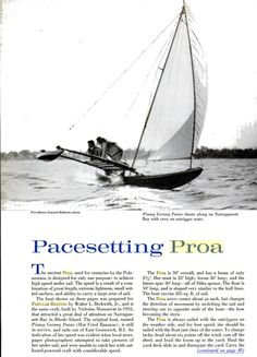 Outrigger Sailing Canoes: Pages of Proa History