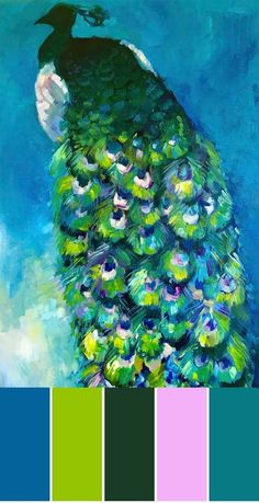 Peacock wall art, painting on canvas Peacock Canvas, Peacock Wall Art, Peacock Painting, Bird Artwork, Wall Paint Colors, Wall Art For Sale, Custom Art, Art Studios, Canvas Wall Art