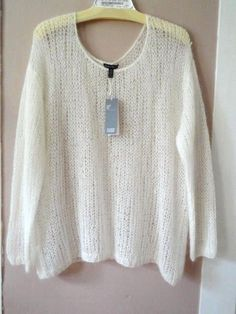 EILEEN FISHER XL Mohair Sheer Open Knit Pullover Sweater Soft ...