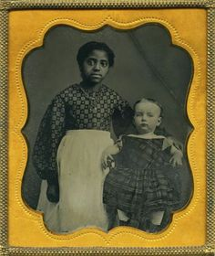 RARE Young Southern African American Nanny White Child Ambrotype | eBay