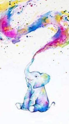 chronical collection Marc Allante Elephant Paint Splash Art Print Poster 12 x 12 inch Artist Canvas, Canvas Art, Canvas Prints, Art Prints, Watercolor Animals, Watercolor Paintings, Elephant Watercolor, Painting Wallpaper, Watercolor Tattoo