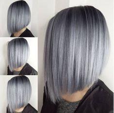 8-Silber Grau Asymmetriche Bob