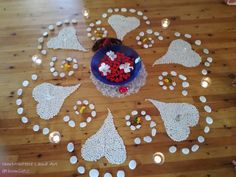 Mandala, created for the chanting retreat with Kevin James Caroll. Made of stones from the beach, white beans, fresh local flowers, crystals, candles, leaves Kevin James, White Beans, Special Events, Stones, Inspire, Leaves, Fresh, Photo And Video, Crystals
