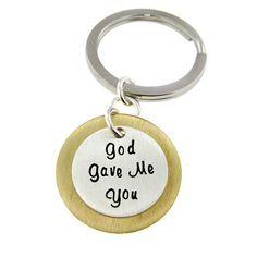 God Gave Me You   key chain  Sterling Silver by jcjewelrydesign, $35.00