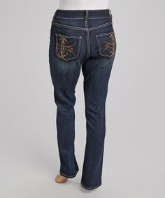 Another great find on #zulily! Dark Indigo Priscilla Bootcut Jeans - Plus #zulilyfinds