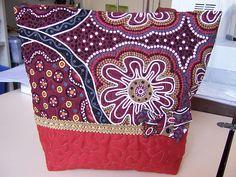 Quilted Tote Bag Aboriginal Prints