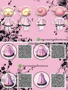 Je vous conseille vraiment cette petite et mignonne robe sur acnl …. I recommend this little and sweet dress on acnl. Animal Crossing 3ds, Animal Crossing Qr Codes Clothes, Animal Crossing Pocket Camp, Motif Acnl, Ac New Leaf, Motifs Animal, Happy Home Designer, Rosa Rose, Young Animal