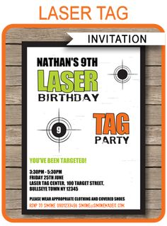 Laser tag free printables laser tag invitations printable free instantly download this laser tag invitation template personalize it easily at home and get your filmwisefo