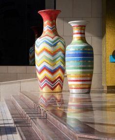 Multi coloured Jars
