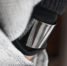 Oxidised oversized cuff perfect Fall/Winter piece Cuff Bracelets, Chrome, Fall Winter, Jewellery, Collection, Jewels, Schmuck, Jewelry Shop, Jewlery