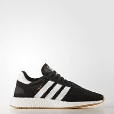 20dc0c5aff The Iniki Runner in Black White Gum from adidas Originals.Two-way stretch  mesh and vintage suede upper.