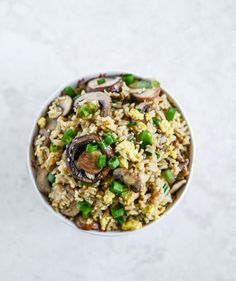 Portobello Fried Brown Rice