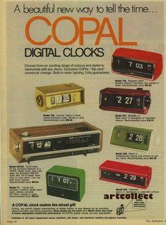 Old Advertisements, Advertising, Vintage Ads, Graphics Vintage, Vintage Clocks, Bedroom Clocks, Old Technology, Clock Art, Flip Cards