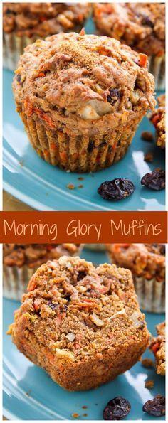Favorite Morning Glory Muffins - Baker by Nature My Favorite Morning Glory Muffins! Hearty, healthy, and so delicious! My Favorite Morning Glory Muffins! Hearty, healthy, and so delicious! Healthy Muffins, Healthy Treats, Healthy Baking, Vegan Muffins, Healthy Man, Healthy Recipes, Mini Muffins, Healthy Breakfasts, Vegan Bran Muffin Recipe