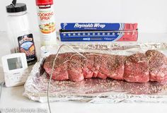 My Easy Go to Beef Tenderloin Recipe - Very little prep is needed for the perfect roast My go to dinner party menu includes my easy beef tenderloin recipe. It is fail proof and doesn't take long to cook. Easy Beef Tenderloin Recipe, Whole Beef Tenderloin, Beef Sirloin, Meat Recipes, Cooking Recipes, Cooking Beef, Top Recipes, Cooking Time, Gourmet