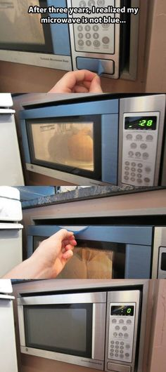 The blue microwave…