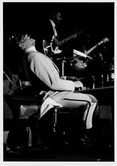 Axel Benzmann - Ray Charles at the piano, Berliner Sportpalast. 1969/printed later. Gelatin silver print.