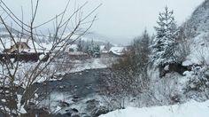Sneženie v Oravskom Bielom Potoku