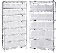Find out more about our clear-view bins, ultra stack and hang & wire shelving systems. Quantum Storage Systems offers a wide range of storage products. Shelving Systems, Wire Shelving, Storage, Home, Products, Purse Storage, Larger, Ad Home, Homes