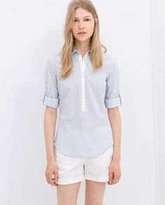 COMBINED STRIPED SHIRT from Zara