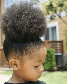 ideas baby girl hairstyles afro puff for 2019 Black Kids Hairstyles, Natural Hairstyles For Kids, Cute Hairstyles, Braided Hairstyles, Children Hairstyles, Toddler Hairstyles, School Hairstyles, Puff Hairstyle, Amazing Hairstyles