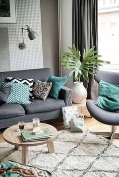 Thinkin of doing these color in one of the living rooms.. turquoise ...
