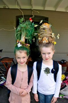 Willow Tree and Beehive Wacky Hair Day Crazy Hair For Kids, Crazy Hair Day At School, Crazy Hair Days, Crazy Day, Crazy Hair Day Girls, Little Girl Hairstyles, Cute Hairstyles, Wacky Hair Days, Days For Girls