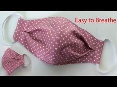 Breathable Face Mask Sewing Tutorial | How to make a Face Mask | Home made Face Cover | mascarilla - YouTube Small Sewing Projects, Sewing Hacks, Sewing Tutorials, Sewing Crafts, Tutorial Sewing, Video Tutorials, Easy Face Masks, Diy Face Mask, Diy Couture